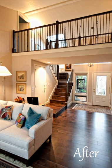 Charbonneau updated Entry, Catwalk and Living room (Living room floor has been lowered)